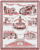 Denison University, Collage Throw Blanket