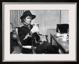 Pop Star Michael Jackson in His Hotel Room Prior to Party for Him at the Museum of Natural History Framed Photographic Print by David Mcgough