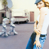 Madonna with Martians Stretched Canvas Print
