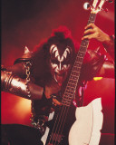 KISS -Gene Simmons Stretched Canvas Print