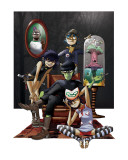 Gorillaz Stretched Canvas Print