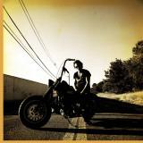 Bruce Springsteen on Harley Davidson Reproducción en lienzo de la lámina