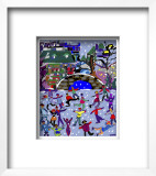 Ice Skaters II Framed Giclee Print by Diana Ong