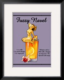 Fuzzy Navel Cocktail Framed Giclee Print