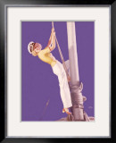 Pin-Up Girl: Sailboat Sailor Framed Giclee Print by Earl Moran