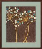 Teal Bubble Flowers Poster by Alan Buckle