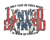 Lynyrd Skynyrd - The Only Time He Feels Right … Is When He's Rollin' Lærredstryk på blindramme