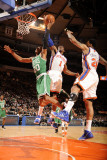 Boston Celtics v New York Knicks: Amar'e Stoudemire and Ray Allen Photographic Print by Lou Capozzola
