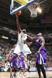 Sacramento Kings v Utah Jazz: Paul Millsap and Samuel Dalemburt Photographic Print by Melissa Majchrzak