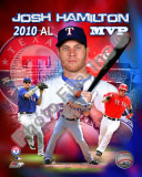 Josh Hamilton 2010 Americal League MVP Portrait Plus Photo