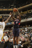 Atlanta Hawks v Indiana Pacers: Jamal Crawford and Brandon Rush Photographic Print by Ron Hoskins