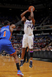 New York Knicks v Sacramento Kings: Carl Landry and Amare Stoudemire Photographic Print by Rocky Widner