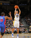 Detroit Pistons v Golden State Warriors: Stephen Curry Fotografisk trykk av Rocky Widner