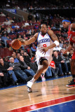 Los Angeles Clippers v Philadelphia 76ers: Andre Iguodala and Ryan Gomes Photographic Print by Jesse D. Garrabrant