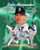 Felix Hernandez 2010 American League Cy Young Winner Portrait Plus Photo