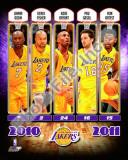 2010-11 Los Angeles Lakers Team Composite Photo