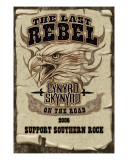 Lynyrd Skynyrd - The Last Rebel, On the Road, 2006. Support Southern Rock Lærredstryk på blindramme