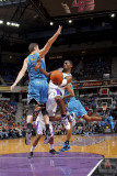 New Orleans Hornets v Sacramento Kings: Tyreke Evans and Jason Smith Photographic Print by Rocky Widner