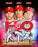 "2010 Philadelphia Phillies ""H20"" Portrait Plus Photo"