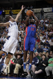 Detroit Pistons v Dallas Mavericks: Will Bynum and Jose Juan Barea Photographic Print by Danny Bollinger