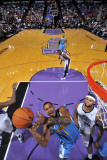 New Orleans Hornets v Sacramento Kings: Trevor Ariza and DeMarcus Cousins Photographic Print by Rocky Widner