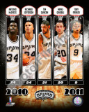 2010-11 San Antonio Spurs Team Composite Photo
