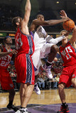 New Jersey Nets v Sacramento Kings: Tyreke Evans, Brook Lopez and Kris Humphries Photographic Print by Don Smith