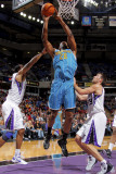 New Orleans Hornets v Sacramento Kings: DJ Mbenga Photographic Print by Rocky Widner