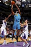 New Orleans Hornets v Sacramento Kings: DJ Mbenga Photographic Print by Rocky Widner