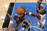 Memphis Grizzlies v Orlando Magic: Zach Randolph, Mickael Pietrus and Marcin Gortat Photographic Print by Fernando Medina