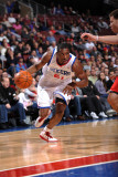 Los Angeles Clippers v Philadelphia 76ers: Thaddeus Young and Blake Griffin Photographic Print by Jesse D. Garrabrant