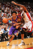 Phoenix Suns v Miami Heat: Josh Childress and Udonis Haslem Photographic Print by Victor Baldizon