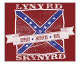 Lynyrd Skynyrd - Support Southern Rock Lærredstryk på blindramme