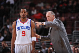 Los Angeles Clippers v Philadelphia 76ers: Doug Collins and Andre Iguodala Photographic Print by Jesse D. Garrabrant