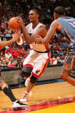 Charlotte Bobcats v Miami Heat: Chris Bosh Photographic Print by Victor Baldizon