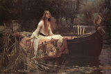 Jomfruen af Shalott, The Lady of Shalott, 1888 Posters af John William Waterhouse