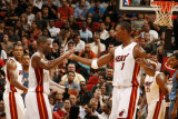 Washington Wizards v Miami Heat: Dwyane Wade and Chris Bosh Photographic Print by Issac Baldizon