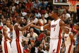Washington Wizards v Miami Heat: Dwyane Wade and Chris Bosh Photographic Print by Issac Baldizon