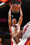 Detroit Pistons v Miami Heat: Zydrunas Ilgauskas Photographic Print by Victor Baldizon