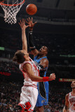 Orlando Magic v Chicago Bulls: Dwight Howard and Joakim Noah Photographic Print by Gary Dineen