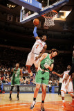 Boston Celtics v New York Knicks: Amar'e Stoudemire and Semih Erden Photographic Print by Lou Capozzola