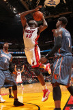 Charlotte Bobcats v Miami Heat: Joel Anthony Photographic Print by Victor Baldizon
