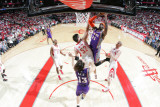 Phoenix Suns v Houston Rockets: Hakim Warrick and Brad Miller Photographic Print by Bill Baptist