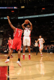 Houston Rockets v Toronto Raptors: Jarrett Jack and Kyle Lowry Photographic Print by Ron Turenne