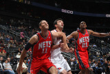 New Jersey Nets v Atlanta Hawks: Brook Lopez and Zaza Pachulia Photographic Print by Scott Cunningham