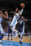 Memphis Grizzlies v Denver Nuggets: J.R. Smith and Zach Randolph Photographic Print by Garrett Ellwood