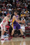 Los Angeles Lakers v Houston Rockets: Pau Gasol and Brad Miller Photographic Print by Bill Baptist