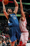 Minnesota Timberwolves v Chicago Bulls: Nikola Pekovic and Joakim Noah Photographic Print by Ray Amati