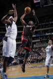 Miami Heat v Dallas Mavericks: Dwyane Wade and Brendan Haywood Photographic Print by Glenn James