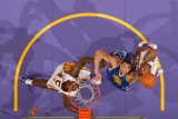 Golden State Warriors v Los Angeles Lakers: Dan Gadzuric and Lamar Odom Photographic Print by Noah Graham